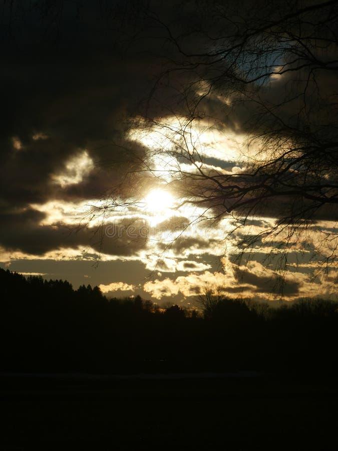 ciemne chmury obraz stock
