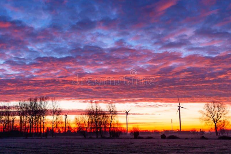 Ciemne niebo przy wschodzie słońca zdjęcie royalty free