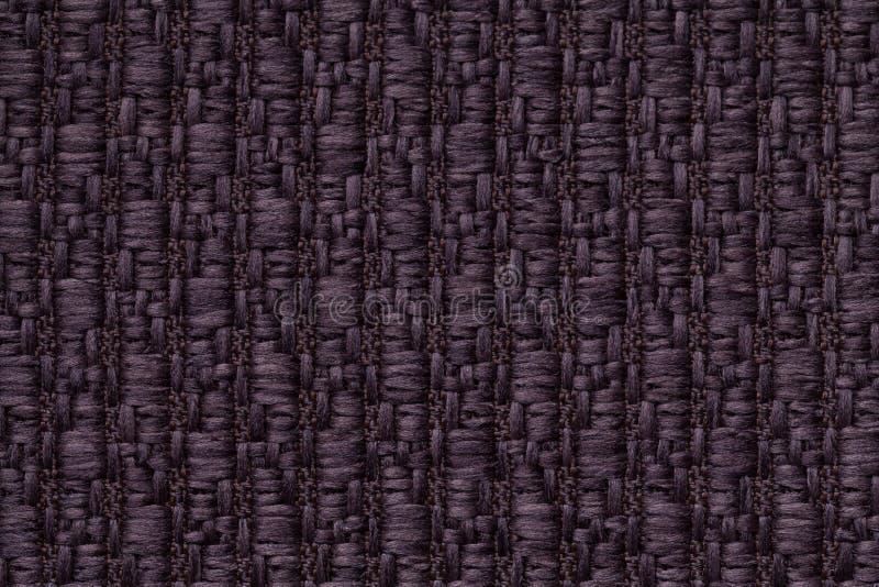 Ciemne purpury dziali woolen tło z wzorem miękka część, wełnisty płótno Tekstura tekstylny zbliżenie obraz royalty free