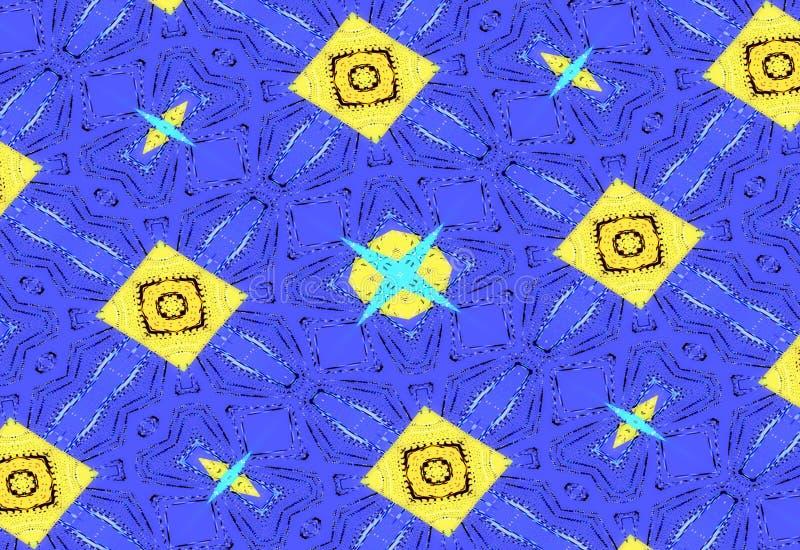 ciemne tła abstrakcyjne Błękitny unikalny wzór od geometrycznych kształtów ilustracji