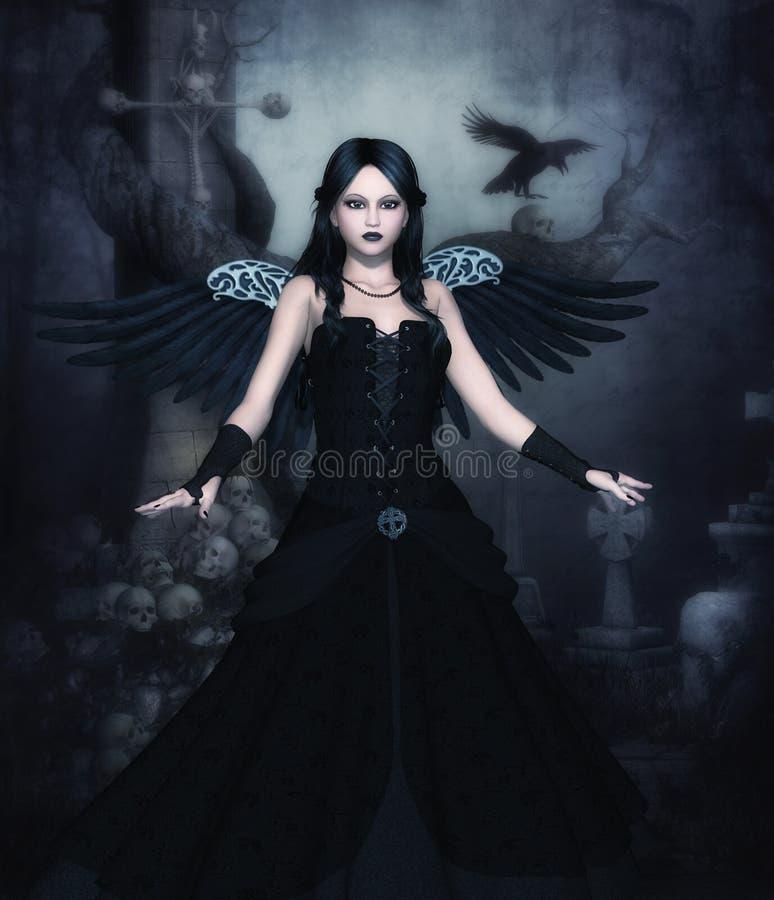 Ciemnego anioła komputerowe grafika ilustracja wektor