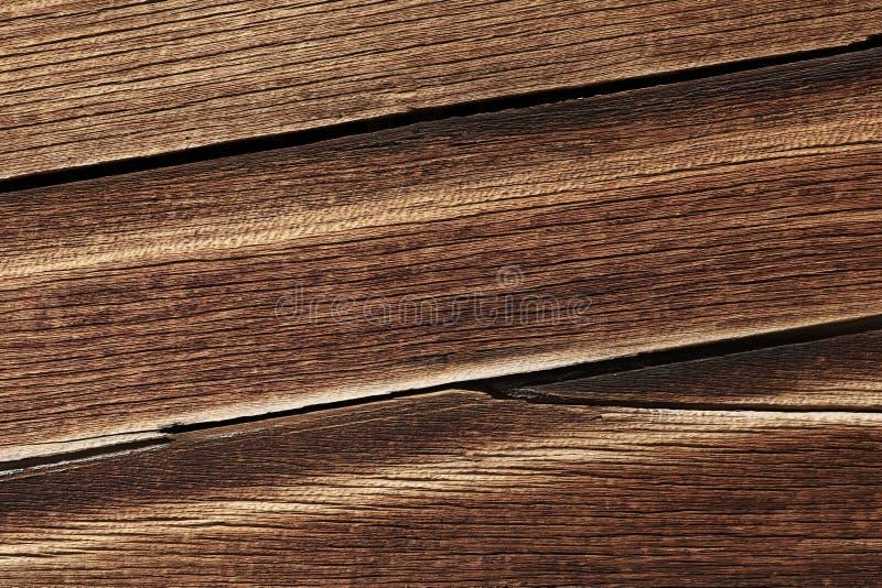 Ciemnego brązu drewniana tekstura z naturalnym pasiastym wzorem dla tła zdjęcia royalty free