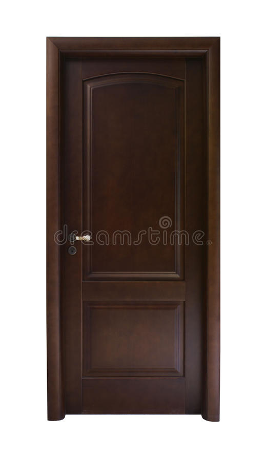 Ciemnego brązu drzwi obrazy stock