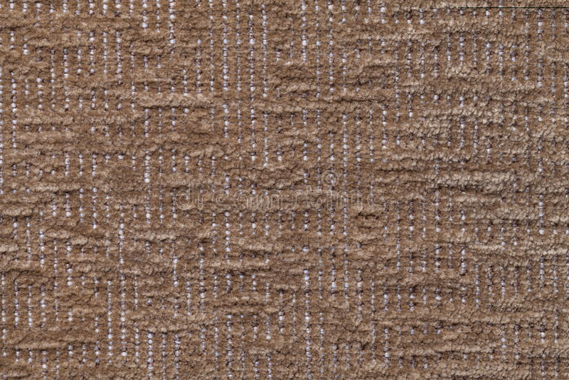 Ciemnego brązu puszysty tło miękka część, wełnisty płótno Tekstura pluszowa owłosiona tkanina, zbliżenie obraz stock