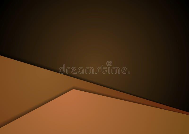 Ciemnego brązu techniki korporacyjny materialny tło royalty ilustracja