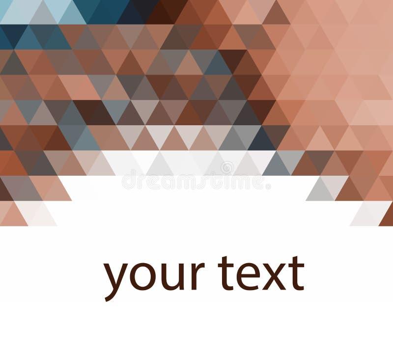 Ciemnego brązu trójboka mozaiki tło Kreatywnie geometryczna ilustracja w Origami stylu z gradientem ilustracja wektor