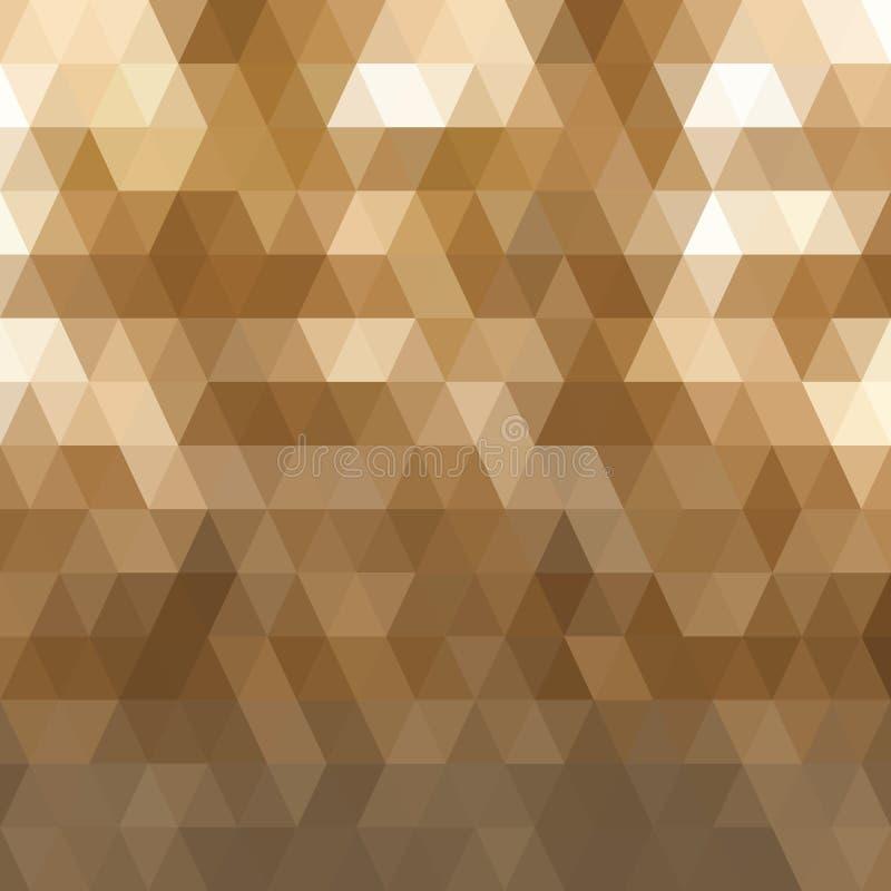 Ciemnego brązu trójboka mozaiki tło Kreatywnie geometryczna ilustracja w Origami stylu z gradientem Szablon może ilustracji