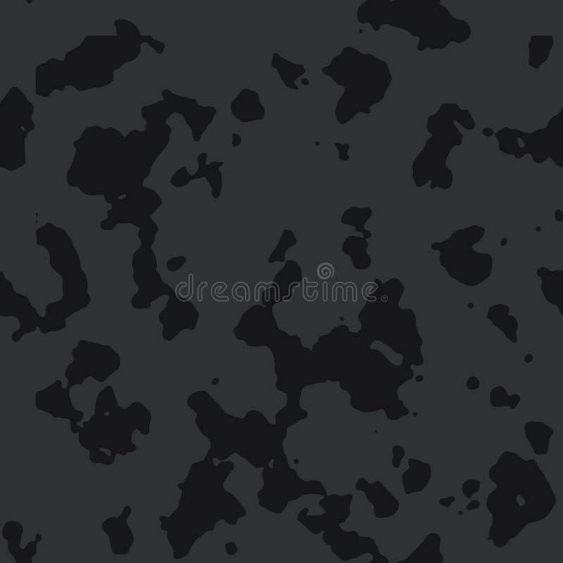 Ciemnego czerni camo bezszwowy wzór ilustracji