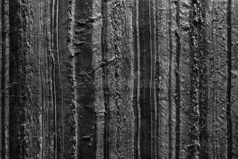 Ciemnego czerni textured abstrakcjonistyczny obraz ręka płótna tło fotografia royalty free