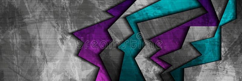 Ciemnego grunge korporacyjny abstrakcjonistyczny sztandar ilustracji