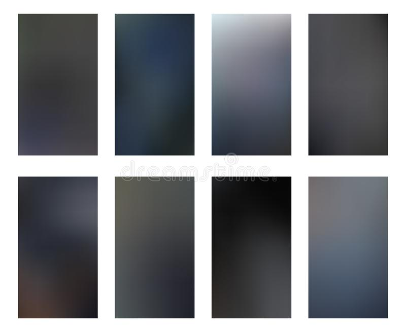 Ciemnego pionowo hd tła smartphone ekranu mobilna tapeta s ilustracja wektor