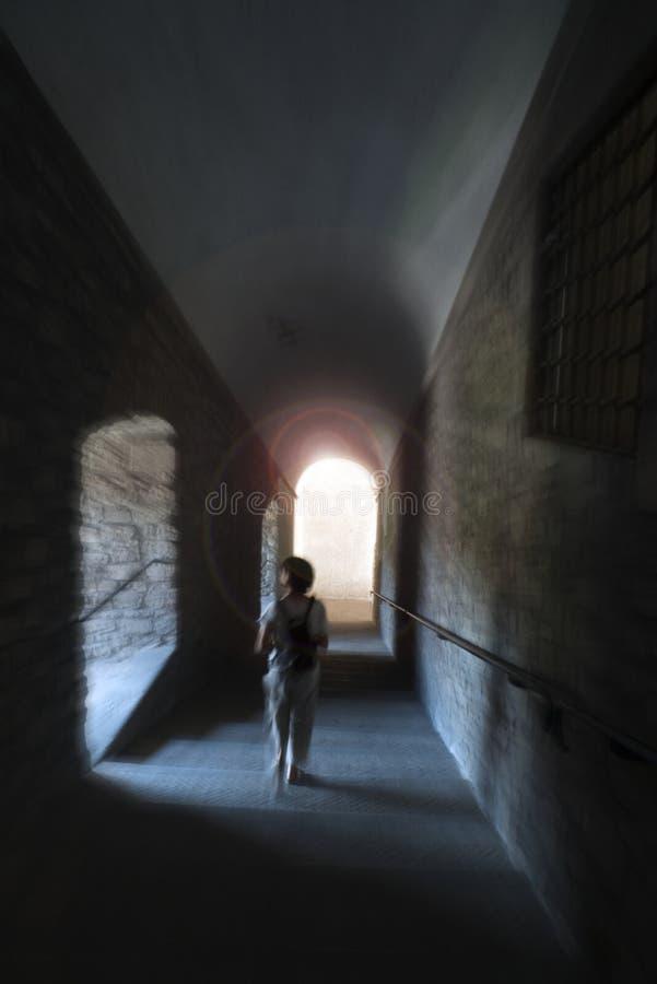 ciemnego skutka galerii ruchu chodząca kobieta obraz royalty free