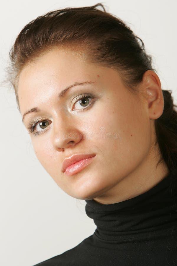 ciemnej dziewczyny z włosami portret fotografia stock