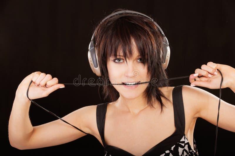 ciemnej dziewczyny z włosami portret zdjęcie royalty free