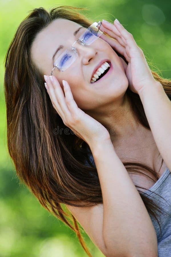 ciemnej dziewczyny z włosami portret zdjęcie stock