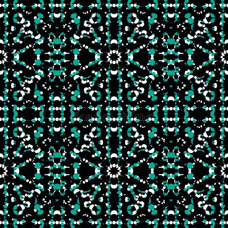 Ciemnej Etnicznej mozaiki Bezszwowy wzór ilustracji