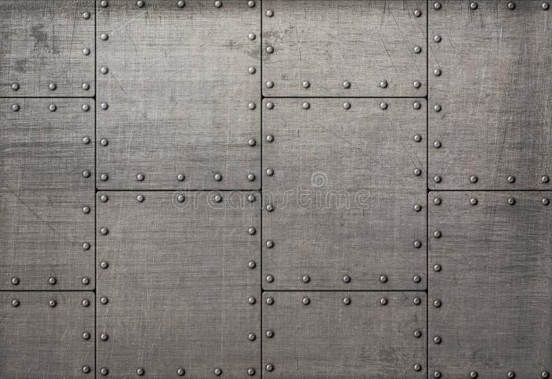 Ciemni metali talerze z nit teksturą lub tłem zdjęcie royalty free