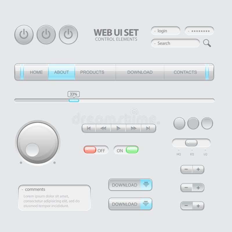 Ciemni sieci UI elementy ilustracja wektor
