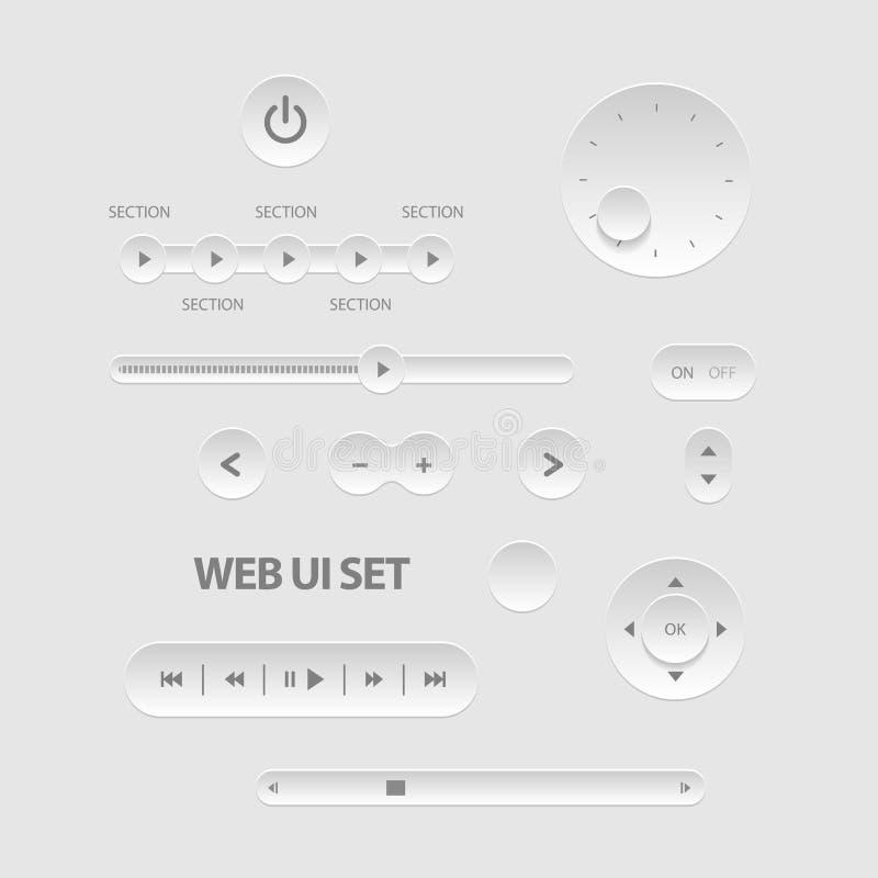 Ciemni sieci UI elementy royalty ilustracja