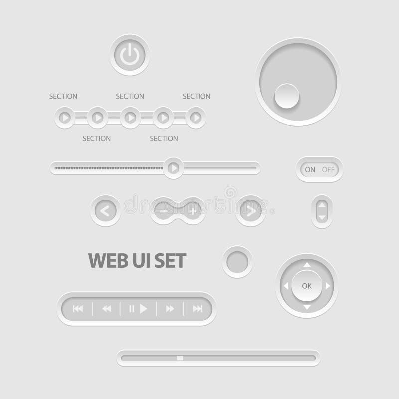 Ciemni sieci UI elementy ilustracji