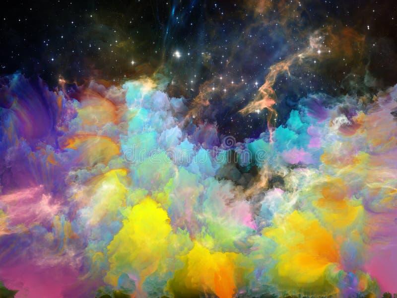 Ciemność Astronautyczna mgławica ilustracji