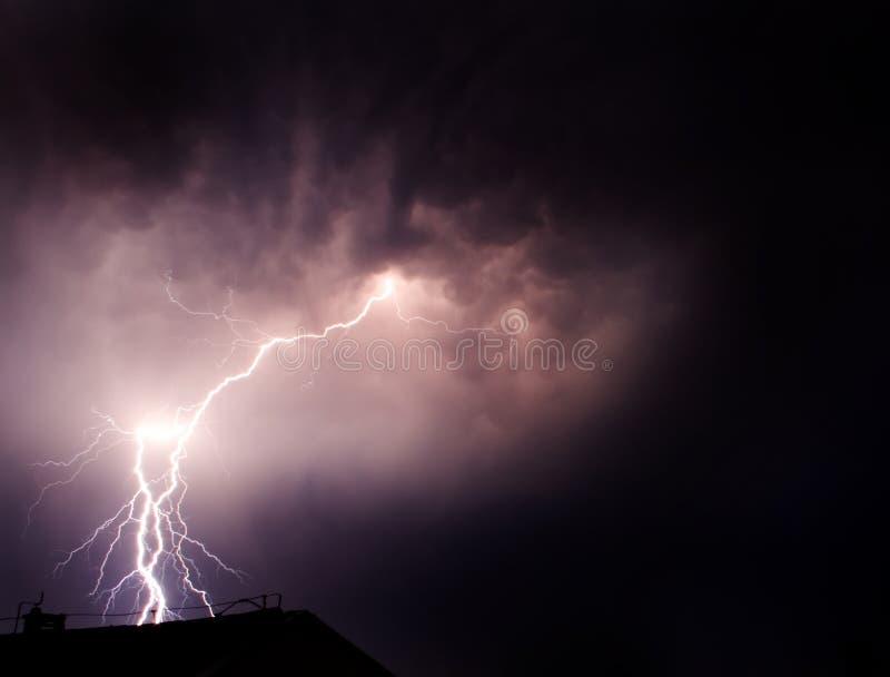 ciemność flash piorun zdjęcia royalty free