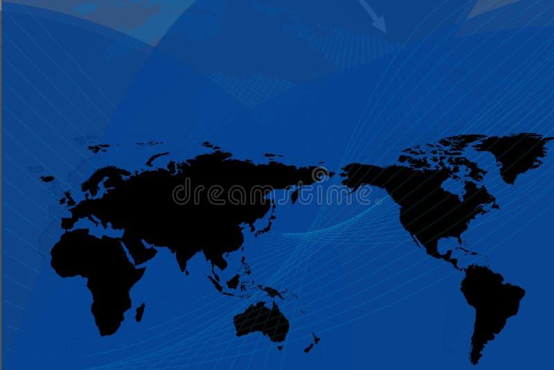 ciemność globalnego tło ilustracja wektor