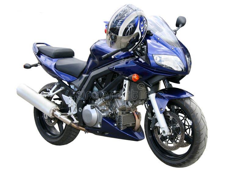 ciemno niebieski motocykla zdjęcie royalty free