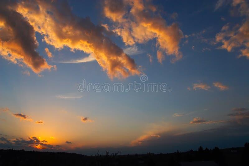 ciemno sibir słońca fotografia stock