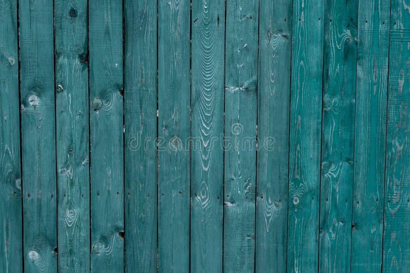 Ciemnozielone stare drewniane deski Tła i tekstury ogrodzenie malujący Frontowy widok Przyciąga pięknego rocznika tło fotografia royalty free