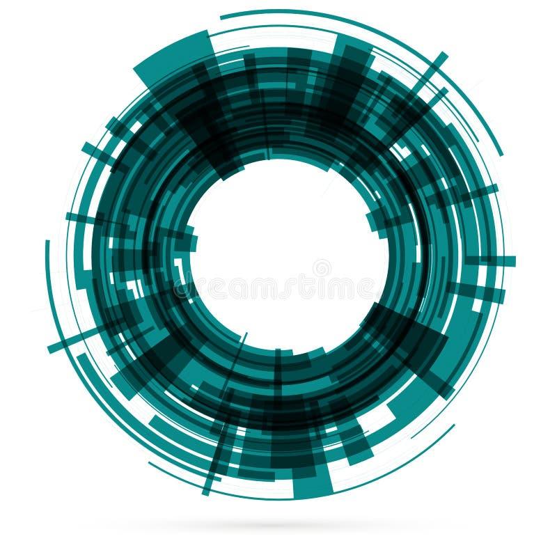 Ciemnozielony technika okrąg raster ilustracji
