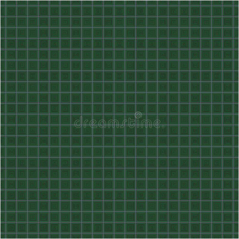 Ciemnozielonych Chequered Bezszwowych kwadratów tła tkaniny Wektorowa tekstura ilustracji