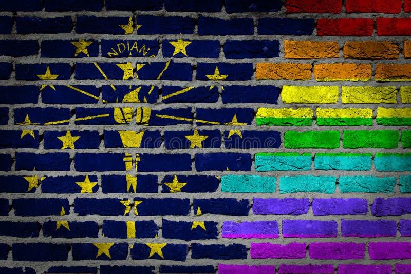 Ciemny ściana z cegieł Indiana - LGBT dobra - zdjęcia royalty free