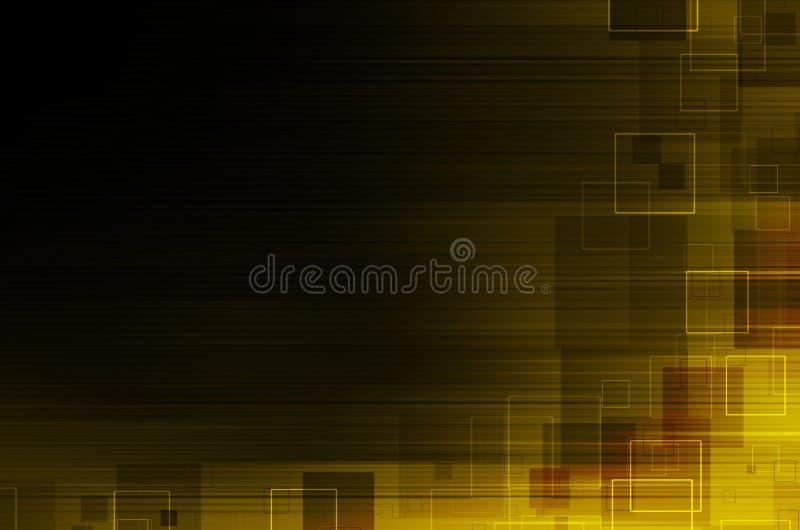 Download Ciemny żółty Techniczny Abstrakcjonistyczny Tło Ilustracji - Ilustracja złożonej z zmrok, nowożytny: 53781540