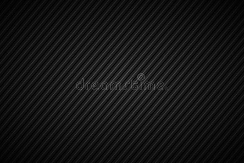 Ciemny abstrakcjonistyczny tło, czerń i popielaty pasiasty wzór, ilustracji