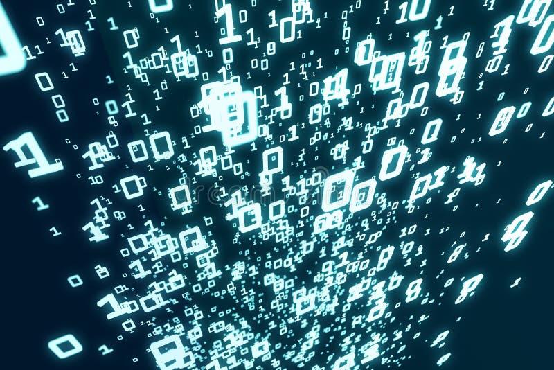 Ciemny binarnego kodu tło ilustracja wektor
