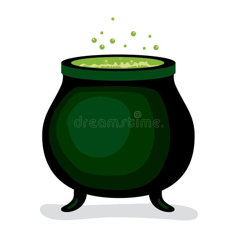 Ciemny czarownicy magii kocioł royalty ilustracja