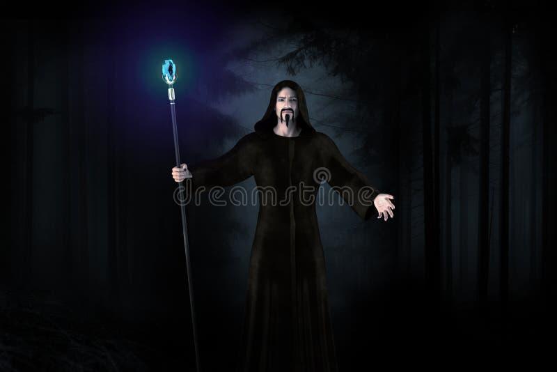 ciemny czarownik ilustracja wektor