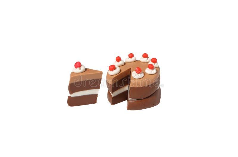 Ciemny czekoladowego torta model od japońskiej gliny obrazy stock