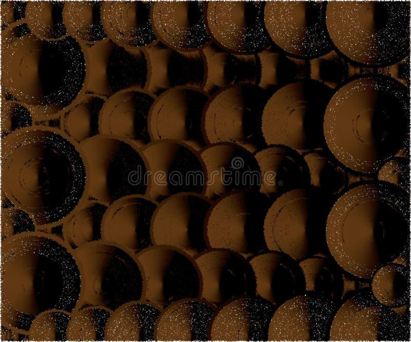 Ciemny czekoladowy skutek, kolory ilustracja wektor