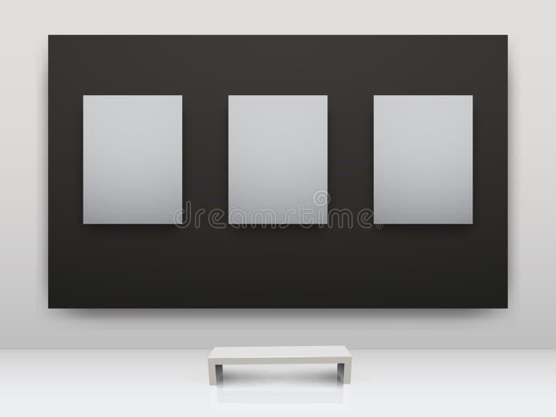 ciemny galerii interio światło ilustracja wektor