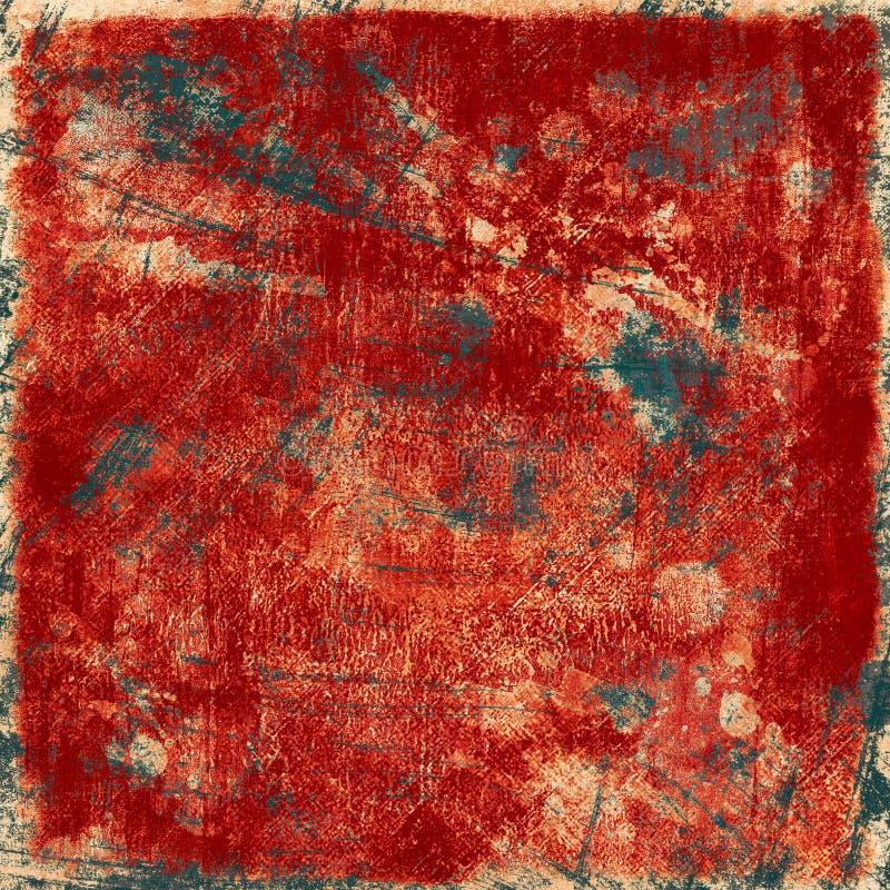Ciemny grunge czerwieni tło ilustracja wektor