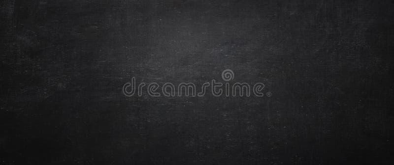 Ciemny i czarny chalkboard tło, opróżnia ścianę obraz royalty free