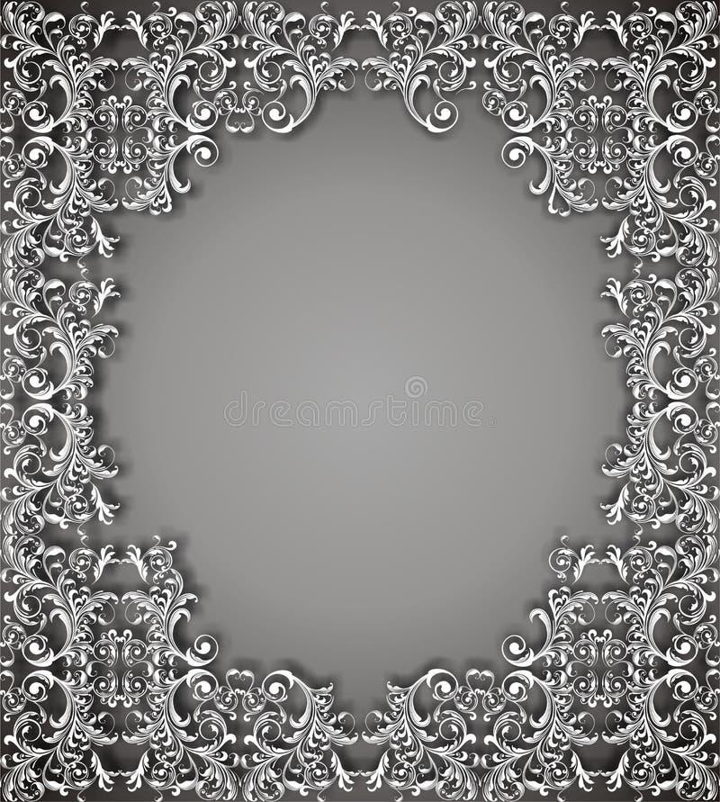 Ciemny kwiecisty wektorowy tło ilustracja wektor