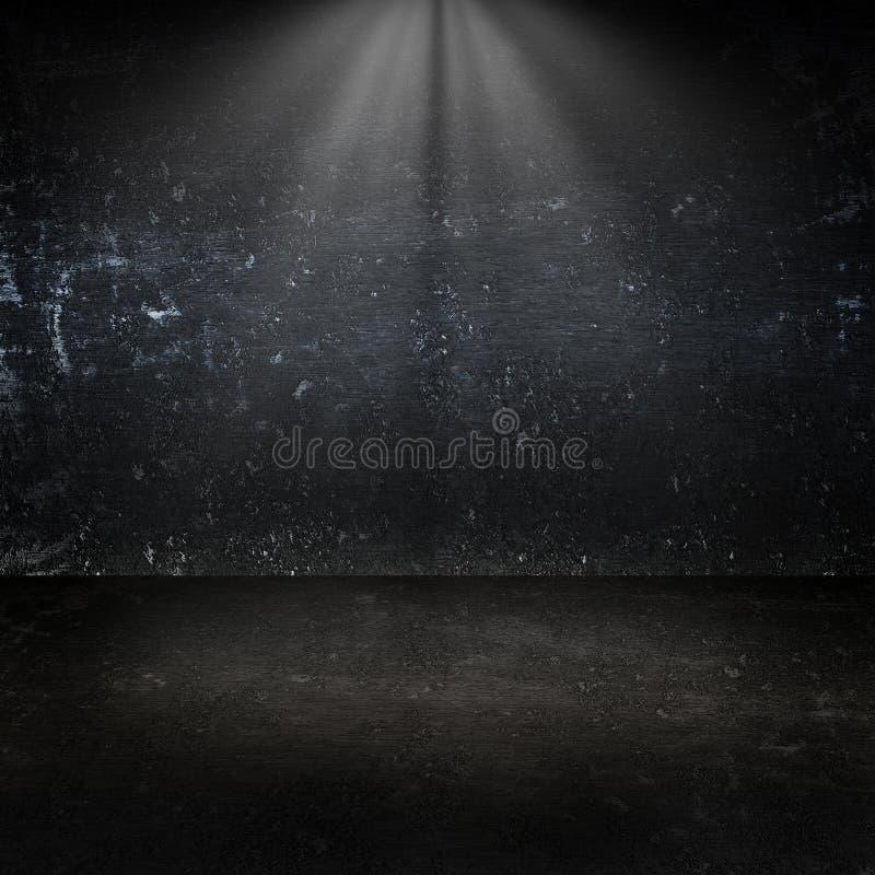 Ciemny metal ściany tła pokój zdjęcia stock