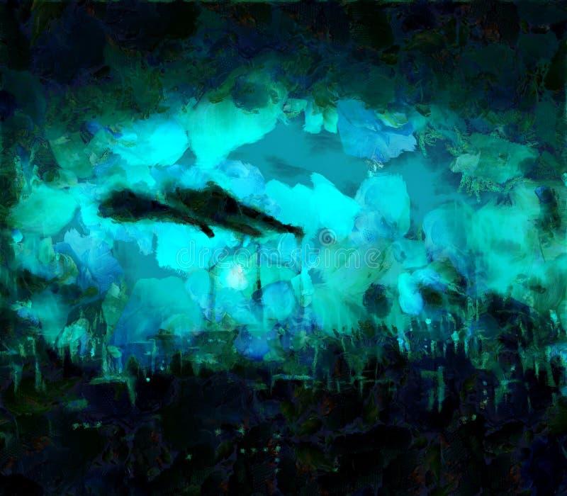 Ciemny miasta linia horyzontu ilustracji