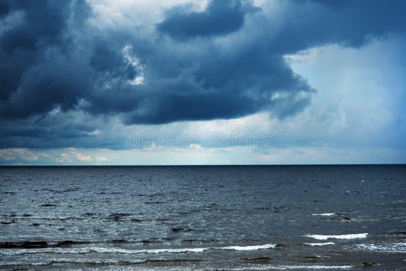 Ciemny morze bałtyckie fotografia royalty free