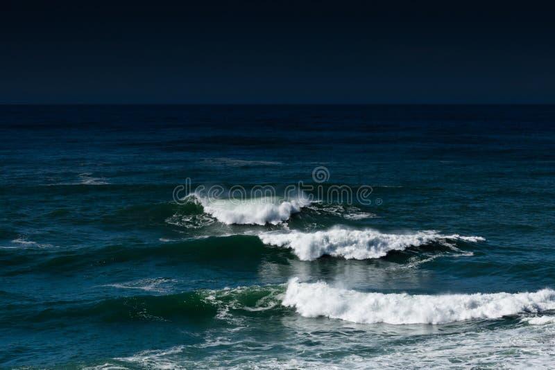 ciemny nowy ocean Zealand fotografia stock