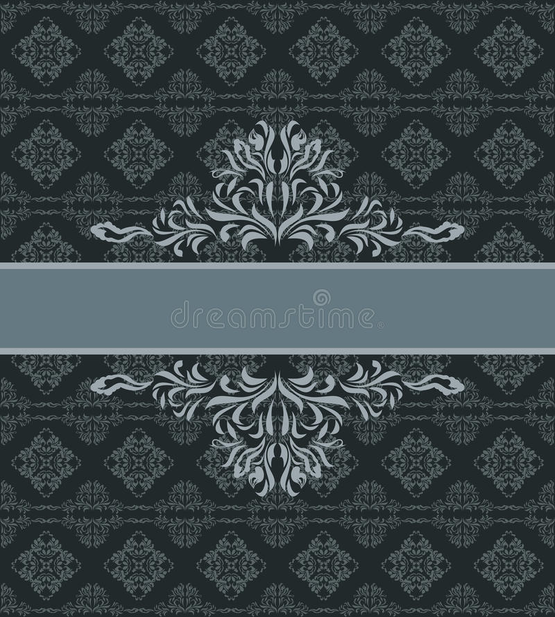 Ciemny ornamentacyjny bezszwowy tło Wzór dla opakunku projekta royalty ilustracja