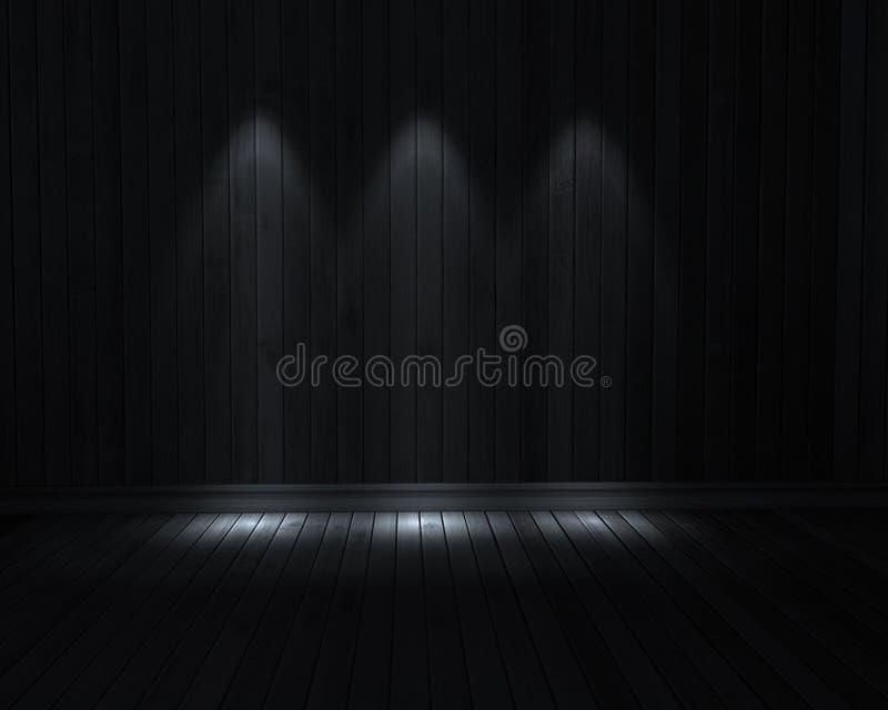 Ciemny pokój ilustracji